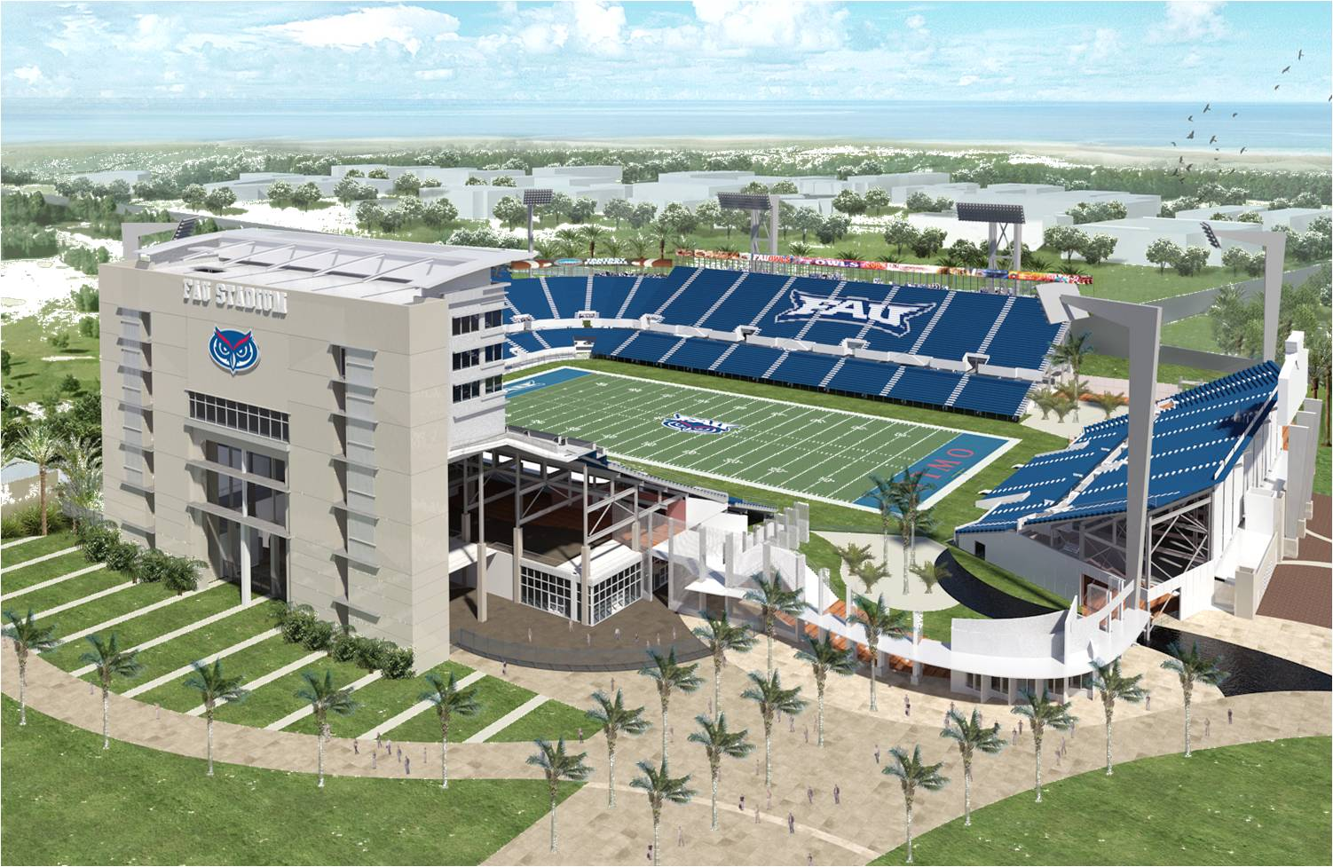 New Fau Football Era Begins With Groundbreaking For Onsite