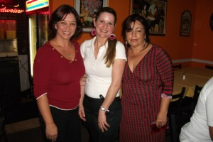 Ivanete Dombrowski, Marcilia, and Daisy Hugon, Jana's mother.