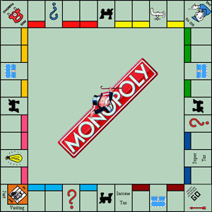 Monopoly is a registered trademark of Hasbro, Inc., Pawtucket, R.I.