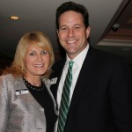 Lisa Elkin and Michael Coady of First Citizens Bank enjoy the Trustee Holiday Party at the Boca Raton Bridge Hotel