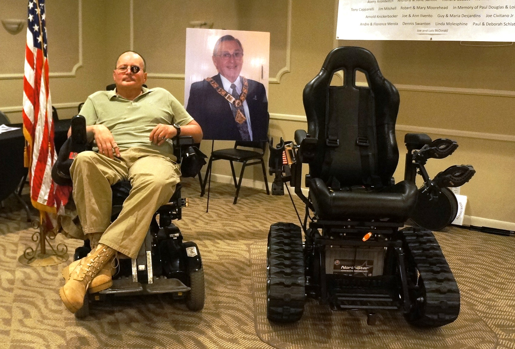 local veterans organization donates motorized wheelchair
