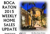 Weekly Home Sales Update 2015 New Image