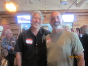 Neal Safer and Rotary Club of Boca Raton Pres. , Spencer Siegal