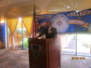 Rotary President Spencer Siegal