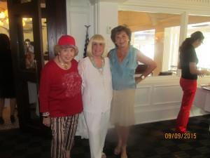 Marleen Forkas, Charlotte Basley and Arlene Herson