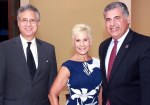 Palm Beach County Commissioner Steven Abrams, Constance Scott and Anthony Barbar