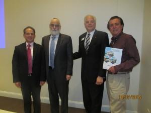 Elliot Popper, Rabbi New, Jn Kay and Architect for the New Chabad of East Boca, Derek Vander Ploeg