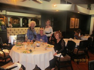 At Taboo, Johann Leigh, Charlotte Beasley,  Marilyn Gardner and Karen Burke