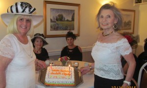 Charlotte Beasley and Marilyn Gardner celebrating joint birthday's