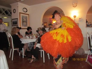 Betsy Wickard dancing to Autumn Leaves