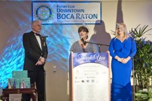 Jon Kaye, Mayor Susan Haynie and Kari Oeljten