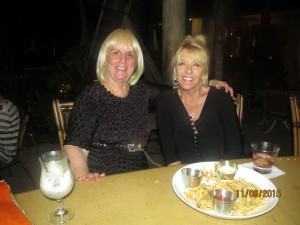 Charlotte Beasley and Kris Tadich enjoy Mangolotta's at Cheeca Lodge in Islamorada