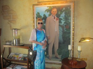 Kris Tadich at Cheeca Lodge with Harry Truman portrait