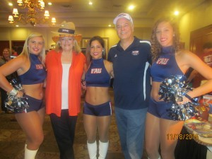 Jon and Bonnie Kaye with FAU cheerleaders