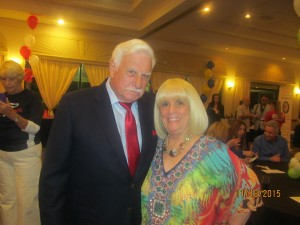 Coach Howard Schnellenberger with Charlotte Beasley