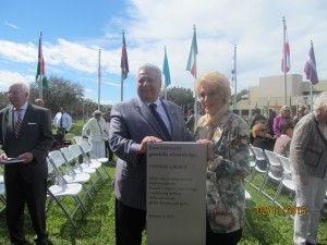 Al and Yvonne Boice Zucaro unveil monument honoring Yvonne