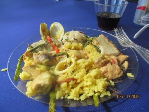 Delicious Paella lunch