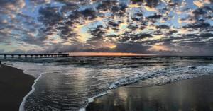 Sunday Sunrise Panorama -  - Photo Courtesy Rick Alovis.. Thanks to Sunrise Buddies Donna & Ed for This One