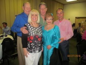 Bob and Charlotte Beasley, Murray Roffeld, Sandi Solomon and Tony Luis