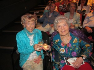 Flossy Keesley and Countess De Hoernle at the Wick Theater