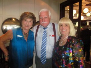 Arlene Herson, Coach Howard Schnellenberger and Charlotte Beasley