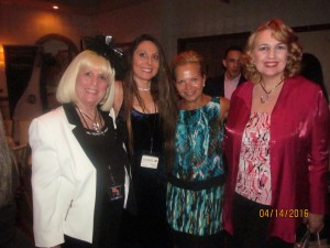 Charlotte Beasley, Adrienne Mazzone, Patricia Sims and Pat Riley