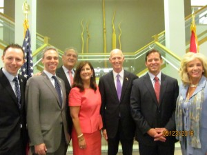Boca City Council with Gov. Scott, Lt. Gov Cantera and Sen. Maria Sachs