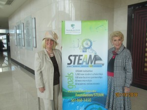 At the Steam Initiative with Yvonne Boice Zucaro at Kravis Center