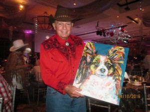 Pete Boisin at the Doggie Ball
