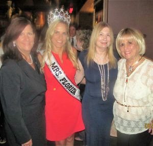 Mayor Haynie, Mrs. Florida, Karen Turk, Evalyn David and Charlotte Beasley