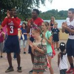 Summer Reading Kick Off Party June 11, 2016 FAU Players and Kids 1