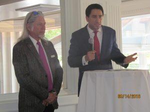 David Goldstein and Speaker Jeff Dawson