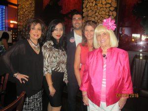 Wendy Baum, Marilyn Corey, Taniel Shant, Diane Wagner and Cjarlotte Beasley