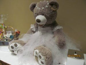 A raffle prize of a Ballet Bear