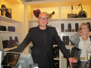 Adolfo Dominguez Store Mgr., Carlos Lopez-Alvarez