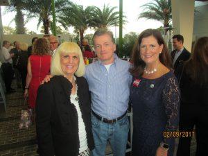 Charlotte Beasley,, John Hannifan and Mayor Susan Haynie