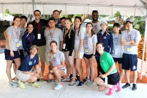 Physical therapy students helped guests on and off the boats. Photo Credit: Kelly Boyle