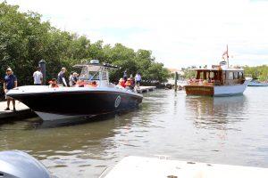 President H.W. Bush's boat pulls into the dock. Photo Credit: Kelly Boyle