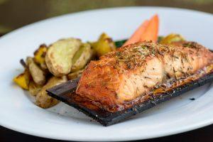 Harvest Seasonal Grill - Cedar Roasted Organic Salmon