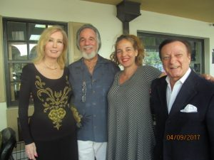 Oleda Baker, Yaacov Heller with daughter Shirley and Ron Roberts