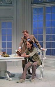 Peter Simon Hilton and Vanessa Morosco in 'Arcadia' 2017