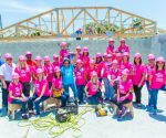 "One shift of the ""Sisterhood of the Pink Hard Hats"" onsite to create the two ""Houses That Women Built"" during WOMEN BUILD 2017 for Habitat for Humanity of South Palm Beach County."