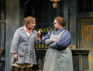 Laura Turnbull as Kate and Elizabeth Dimon as Eileen in The Cripple of Inishmaan. Photo by Alicia Donelan Photography
