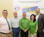 Boca Helping Hands Executive Director James S. Gavrilos, Vice President of the Board Dr. Eric H. Shaw, Publix store manager Marc Taubenkimel, Publix Media and Community Relations Manager Nicole Krauss and City Commissioner Robert S. Weinroth