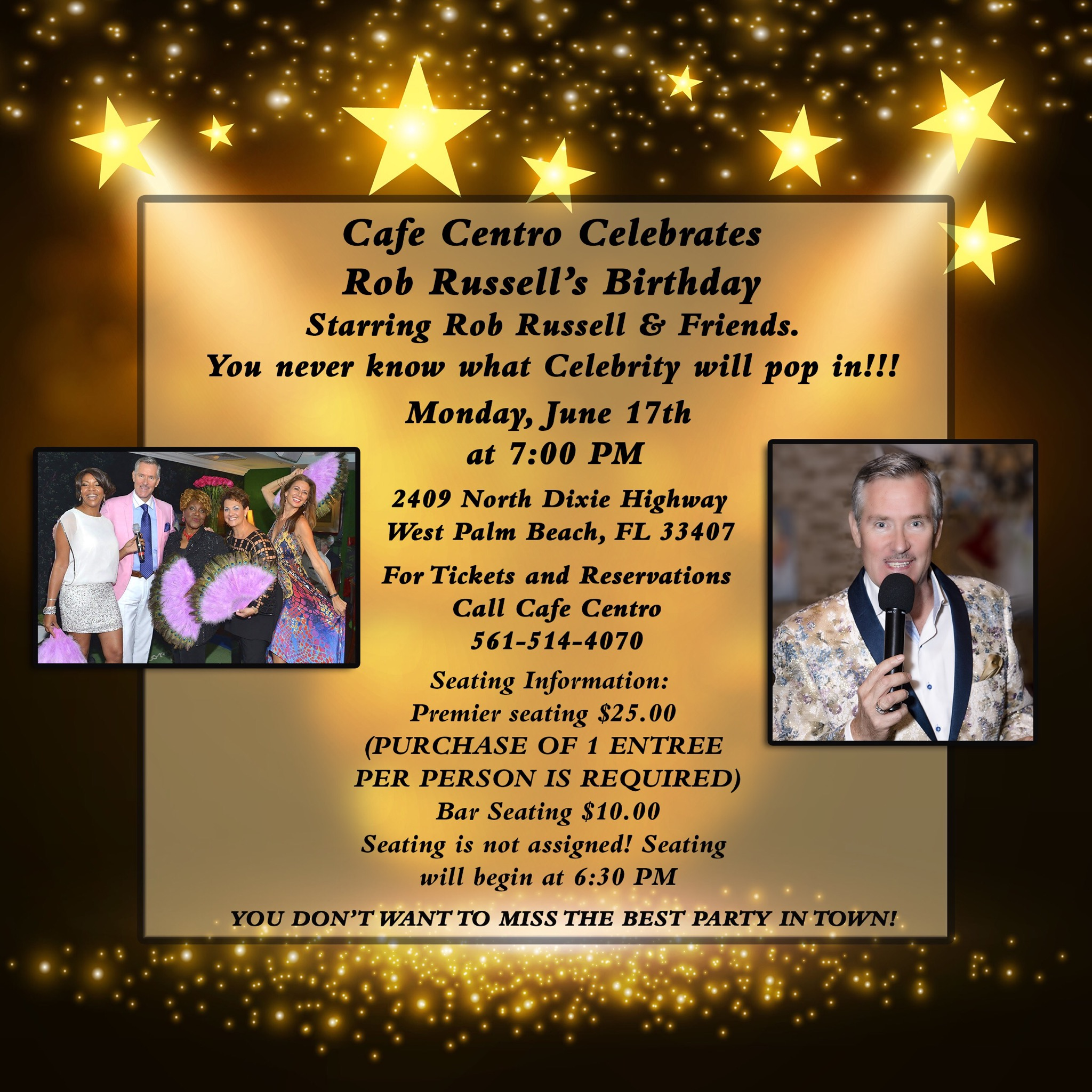 CAFE CENTRO Celebrates The Birthday Of Singer/Showman ROB