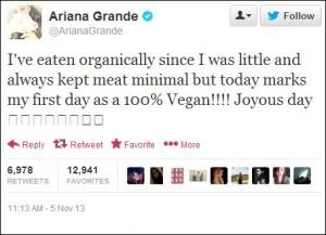 ariana-grande-vegan-tweet