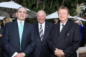 Ron David, Highland Beach Mayor Bernard Featherman, John Kaczmarec