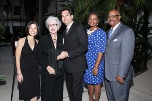 Rona Bernstein, Rita Thrasher, Dr. Seth Bernstein, Vivian Washington and George White