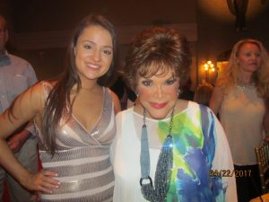 Vanessa Simpson with Singer, Connie Francis