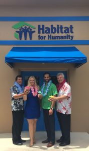 From left: Habitat for Humanity of South Palm Beach County ReStore Director Tom Livoti, Chief Development Officer Kari Oeltjen, Sr. Director of Governmental Relations and Community Engagement Mohamed Abdalla, President & CEO Randy Nobles